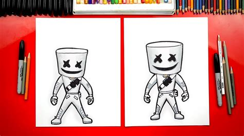 draw fortnite marshmello skin art  kids hub