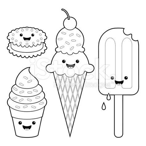 Helado Kleurplaat by Characters Dibujos Food Coloring Pages