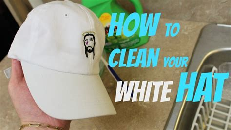 How To Clean Your White Hat Youtube