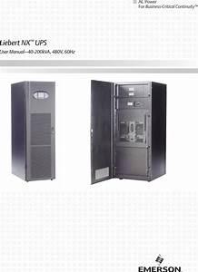 Emerson Liebert Nx Ups 40 200kva 480v 60hz Users Manual 25217