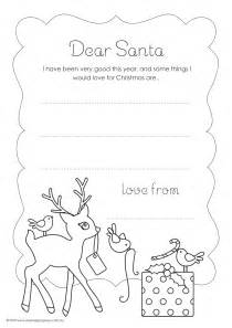 Coloring Santa Letter Template