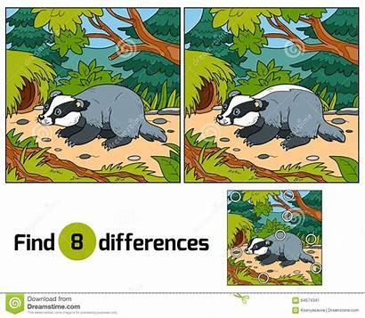 Differences Vind Verschillen Spel Kinderen Achtergrond Voor