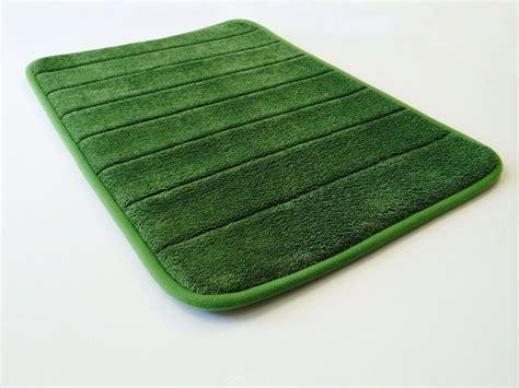 green smooth luxurious micro plush anti skid