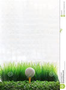 Yellow Golf Ball On Tee