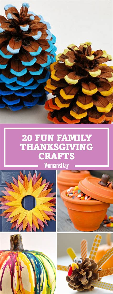 thanksgiving ideas 29 fun thanksgiving crafts for kids easy diy ideas to make for thanksgiving womansday com