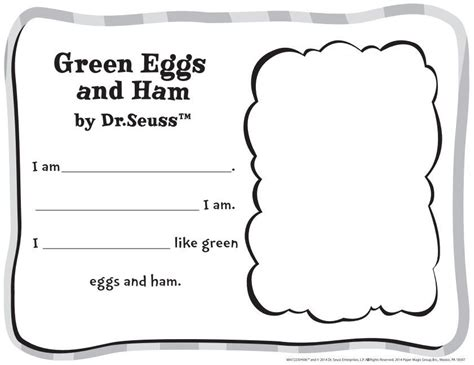 free dr seuss green eggs and ham classroom activity 319 | ddf55401f073a37935c10c9876701550