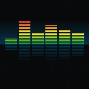 Vector for free use: Colorful equalizer