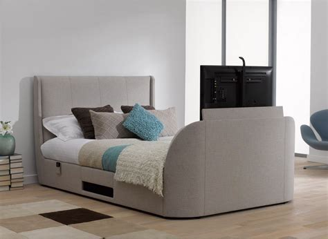 Titanium T3 TV Bed Frame   Stylish & Upholstered   From