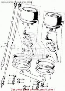 Honda Cb500k1 Four 1972 Usa Speedometer    Tachometer Cb500