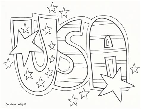 Freedom Coloring Pages Let Ring Page