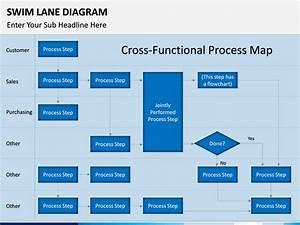Swim Lane Diagram Powerpoint Template