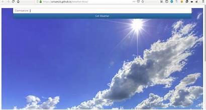 Weather Application Json Parsing Javascript Simple