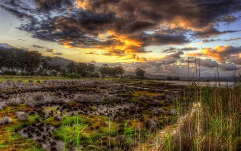 Beautiful Wetlands Landscape Hdr 139376 : Wallpapers13.com