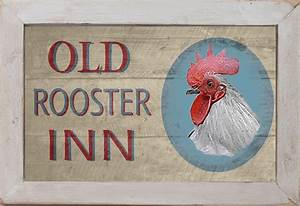 Vintage Style Country Diner Kitchen Decor Chicken Rooster