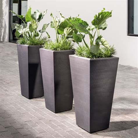Grooved Planters   west elm