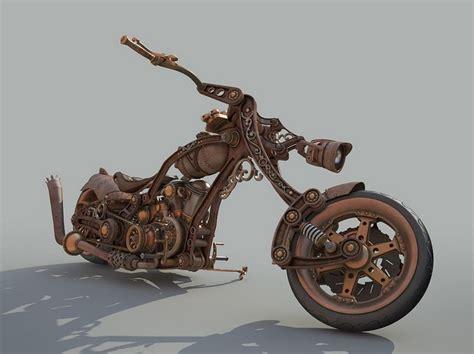 Steampunk Motorcycle :  Motorcycle Style Steampunk