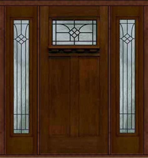 prehung side lights door  fiberglass cantania craftsman