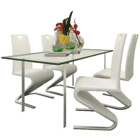 chaise de cuisine en cuir blanc la boutique en ligne chaise en simili cuir cantilever avec