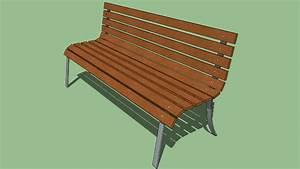 Banc Metal Bois : banc en metal et bois bench 3d warehouse ~ Teatrodelosmanantiales.com Idées de Décoration