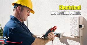 Don U2019t Forget To Check Electrical Inspection Points