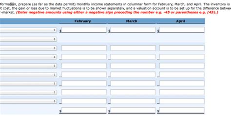 monthly income statement spreadsheet templates
