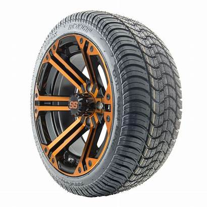 Golf Cart Tires Wheels Ss Orange Rhox