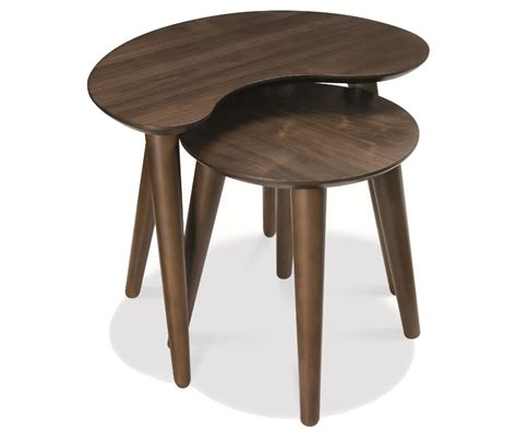 Of Table by Oslo Walnut Nest Of Tables