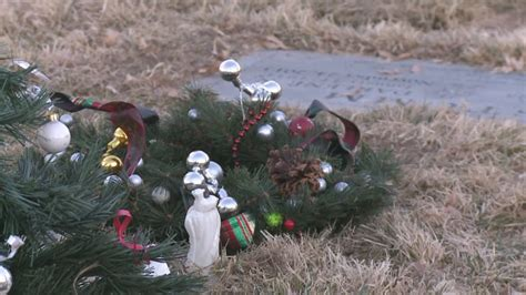 cemetery tosses christmas decorations youtube