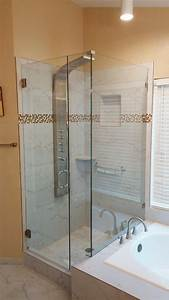 Frameless, Shower, System, With, Clear, Glass, Stock, Hardware