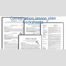 Conversation Lesson Plan Worksheets