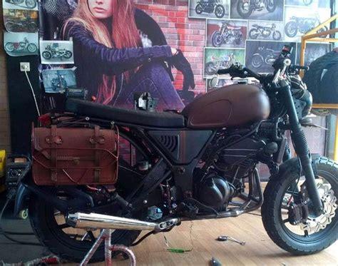 Kawasaki W175 Side Bag by Jual Side Bag Tas Sing Motor Asli Kulit Bikin Gagah