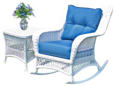 princeton wicker rocker white style outdoor
