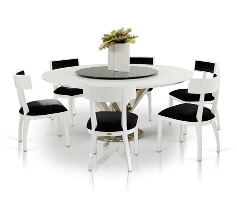 round dining room tables for 8 modern round dining room table with 8 black and white