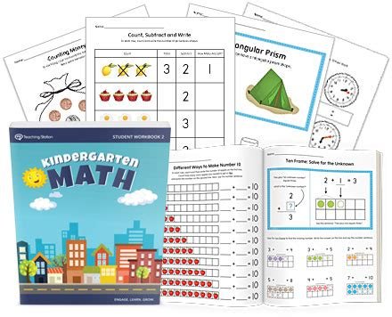 Printable Kindergarten Math Student Workbook Part 2 Myteachingstationcom