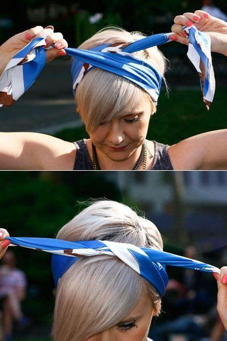 wie bindet einen schal wie einen schal bindet 3 chic ways hair frisuren frisuren mit bandana und haar schals