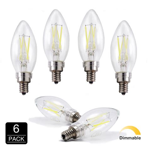 led 6500k daylight 40w equivalent dimmable cool chandelier