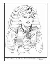 Coloring Lesson Coffin Pages Plans Plan Tutankhamen Teacherspayteachers sketch template