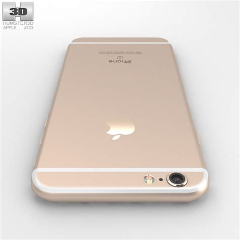 gold iphone 6s apple iphone 6s gold 3d model humster3d