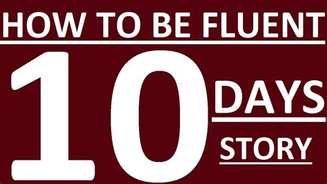 How To Speak English Fluently In 10 Days  My Story Learn Speaking English Fluently Youtube