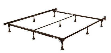 queen size sturdy 9 leg metal bed frame with headboard