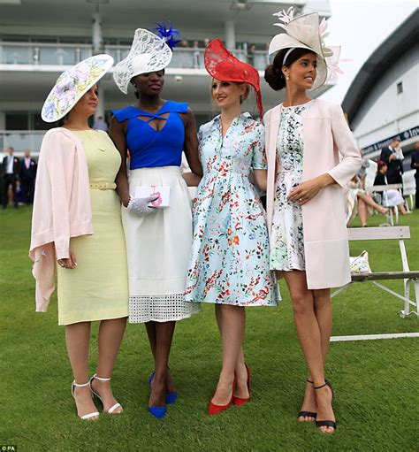Racegoers turn Epsom into a riot of colour on Ladies Day | Daily Mail Online