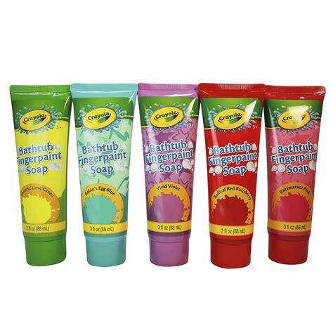 crayola bathtub fingerpaint 5 color variety pack 3 ounce