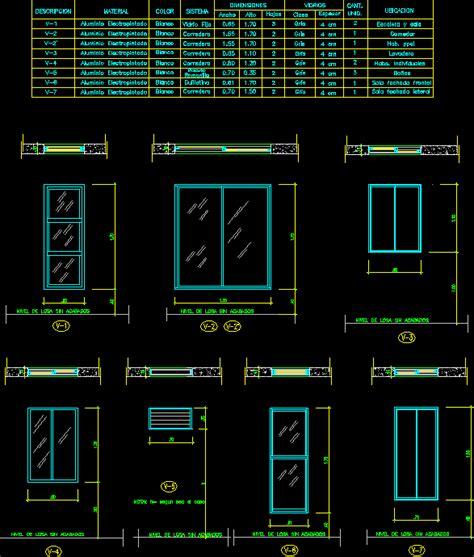 openings worksheet windows  autocad cad  kb bibliocad