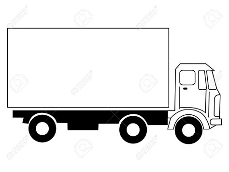 Truck Clip Lorry Clipart Black And White 101 Clip