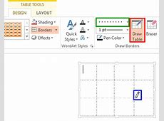 Set Line Style for Table Borders in PowerPoint 2013 for