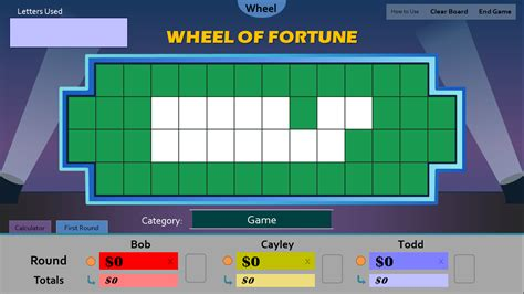 wheel  fortune  powerpoint version   arrived