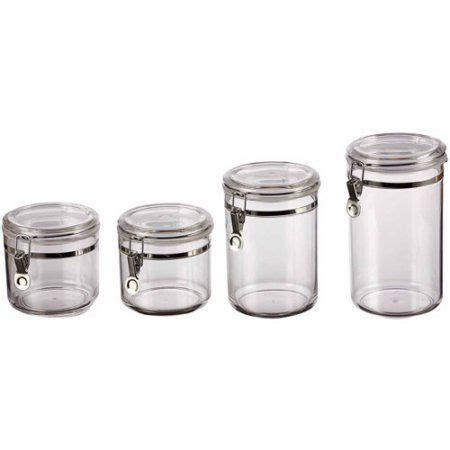 walmart kitchen canister sets classical 4 canister set clear walmart