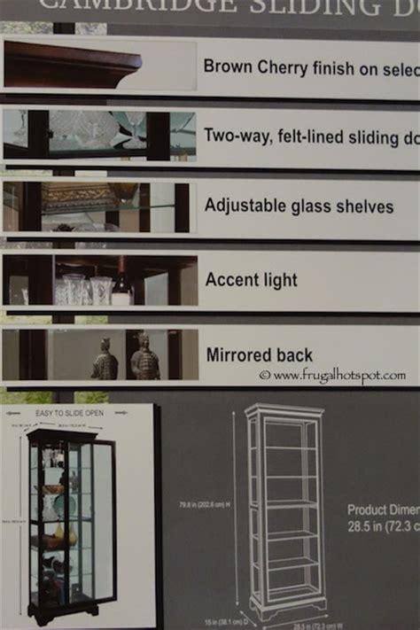 pulaski cambridge display cabinet costco pulaski cambridge sliding door curio cabinet