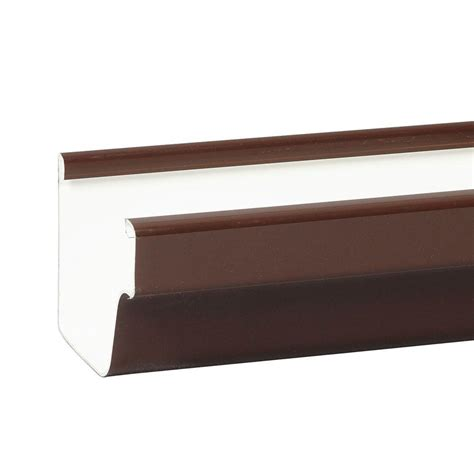 Amerimax Home Products 10 Ft Brown Vinyl Kstyle Gutter