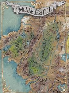 Map, Of, Middle, Earth, Art, Print, U2022, Sweet, Sequels